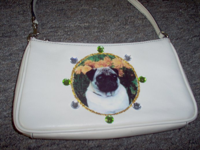 DIY Pug Leather Handbag Purse Clutch Wristlet OOAK