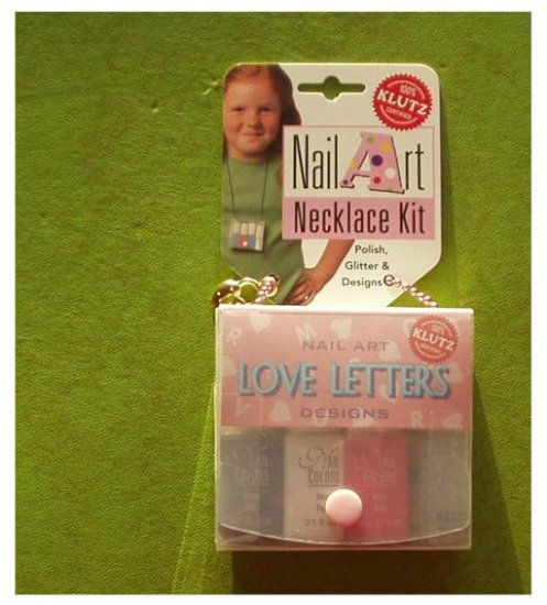 Klutz NAIL ART - LOVE LETTERS ~Sealed + Necklace