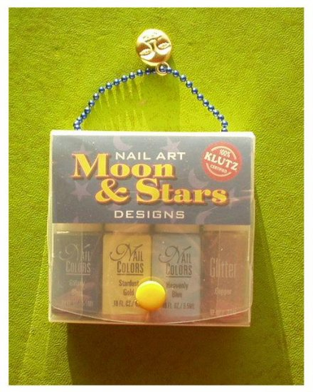 Klutz NAIL ART MOONS AND STARS Sealed + Necklace KIDS