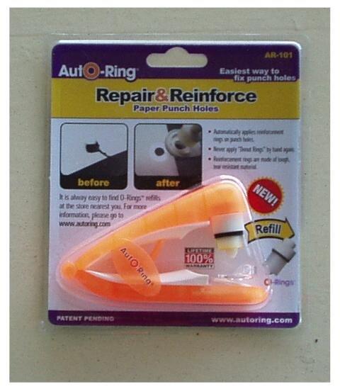 School Supplies Binder Hole Reinforcer AutO-Ring Orange