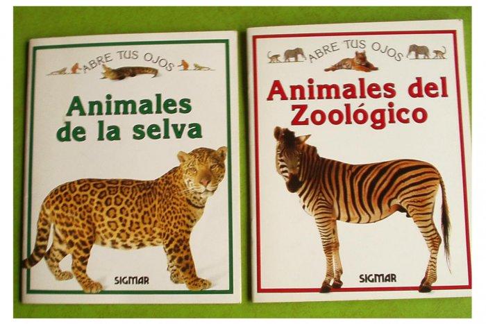 2 Abre Tus Ojos Books Animales Selva & Zoo Español pb