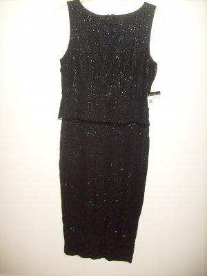 Womans TEDDI EVENING Black Dress (10)