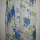 Womans Pride and Joy  white w/blue/purple flowers skirt (2X)