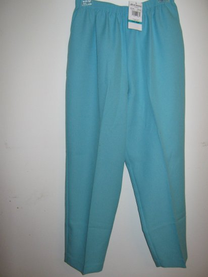 Womans Alfred Dunner LT TURQ pants (16 P)