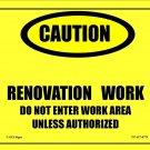 "EPA ""Lead Work Area"" Sign"