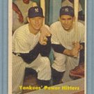 1957 Topps Power Hitters # 407 MANTLE -- BERRA Yankees HOF