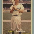 1957 Topps # 45 CARL FURILLO Brooklyn Dodgers EX