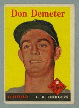 1958 Topps # 244 DON DEMETER Dodgers VG