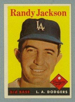 1958 Topps # 301 RANDY JACKSON Dodgers VG - EX