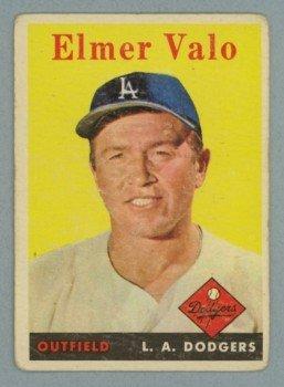 1958 Topps # 323 ELMER VALO Dodgers