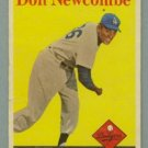 1958 Topps # 340 DON NEWCOMBE Dodgers