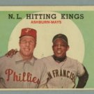 1959 Topps NL Hitting Kings # 317 ASHBURN -- MAYS HOF