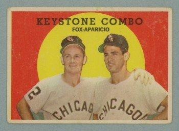 1959 Topps Keystone Combo # 408 FOX -- APARICIO HOF