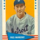 1961 Fleer # 125 Fred Marberry Washington Senators