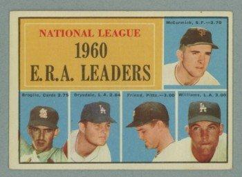 1961 Topps NL ERA Leaders # 45 McCORMICK -- DRYSDALE HOF EX