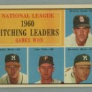 1961 Topps NL Pitching Leaders # 47 BROGLIO -- SPAHN HOF