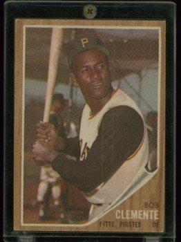 1962 Topps # 10 Roberto Clemente Pirates HOF