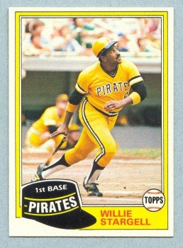 1981 Topps # 380 WILLIE STARGELL Pirates HOF NM - MT+