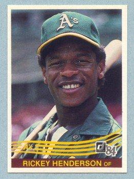 1984 Donruss # 54 Rickey Henderson Oakland A's