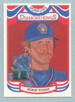 1984 Donruss Diamond Kings # 1 Robin Yount HOF Brewers