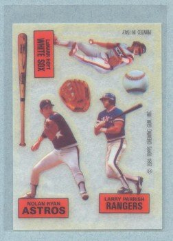 1984 Topps Rub Downs # 26 Hoyt Parrish Ryan HOF