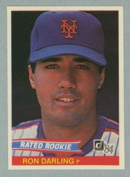 1984 Donruss # 30A ERR Ron Darling Rated Rookie RC Mets