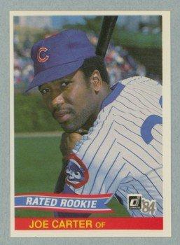 1984 Donruss # 41 Joe Carter Rated RC Cubs Rookie