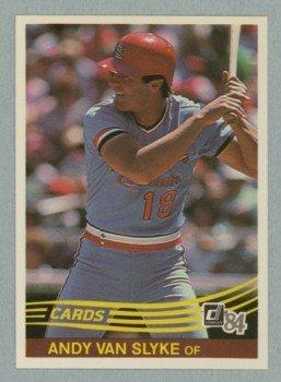 1984 Donruss # 83 Andy Van Slyke RC Cardinals Rookie