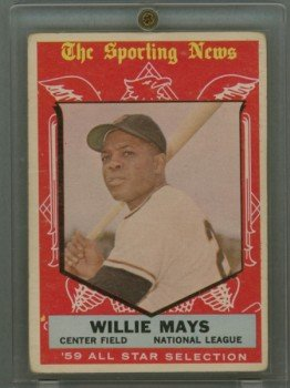 1959 Topps # 563 Willie Mays All-Star Giants HOF