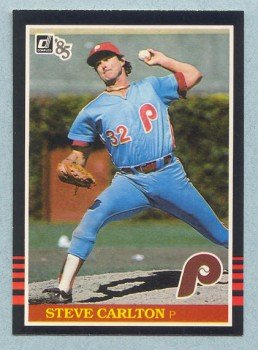 1985 Donruss # 305 Steve Carlton HOF Phillies