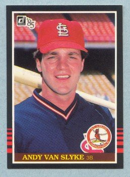 1985 Donruss # 327 Andy Van Slyke Cardinals