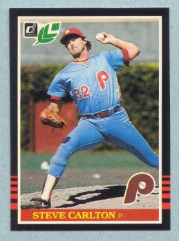 1985 Leaf # 113 Steve Carlton HOF Phillies