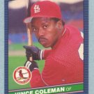 1986 Donruss # 181 Vince Coleman UER RC Cardinals Rookie