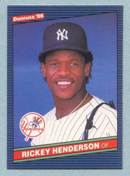 1986 Donruss # 51 Rickey Henderson Yankees