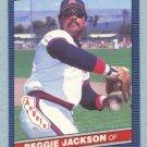 1986 Leaf # 173 Reggie Jackson HOF Angels