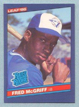 1986 Leaf # 28 Fred McGriff RC Rookie Blue Jays Rookie