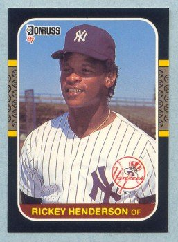 1987 Donruss # 228 Rickey Henderson Yankees