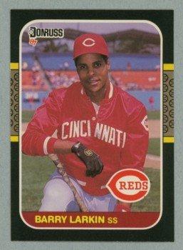 1987 Donruss # 492 Barry Larkin RC Reds Rookie