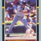 1987 Donruss # 52 Don Mattingly Yankees