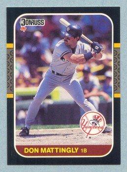 1987 Donruss # 52 Don Mattingly Yankees
