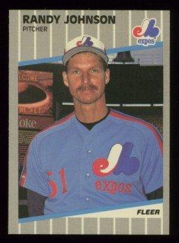 1989 Fleer # 381 RANDY JOHNSON RC Yankees MINT Rookie