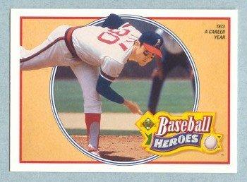 1991 UD Baseball Heroes # 11 Nolan Ryan HOF Mets Angels
