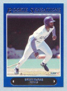 1992 Fleer Rookie Sensations # 9 Brian McRae Royals
