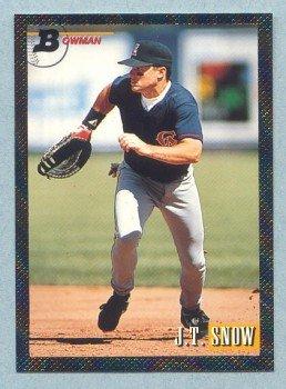 1993 Bowman # 340 J T Snow Foil Angels