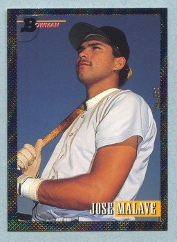 1993 Bowman # 696 Jose Malave Foil RC Red Sox