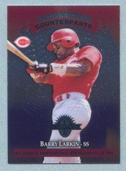 1997 Donruss Ltd Counterparts # 10 Barry Larkin -- Rey Ordonez Reds Mets