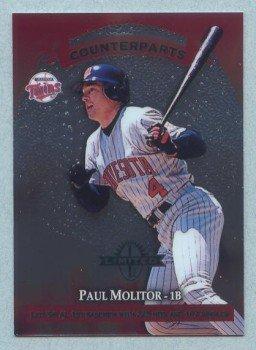 1997 Donruss Ltd Counterparts # 20 Paul Molitor -- John Olerud Twins Mets