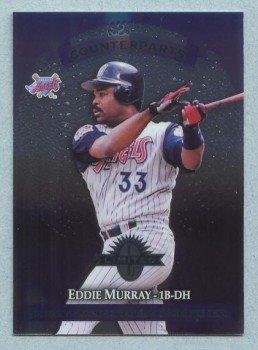 1997 Donruss Ltd Counterparts # 7 Eddie Murray -- Reggie Jefferson HOF Angels Red Sox