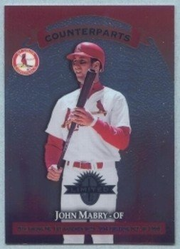 1997 Donruss Ltd Counterparts # 97 John Mabry -- F P Santangelo Cardinals Expos