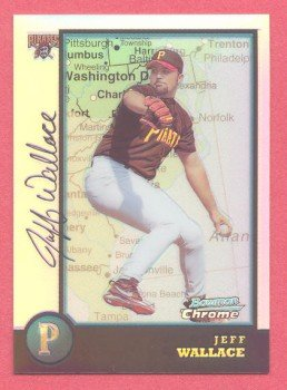 1998 Bowman Chrome International Refractors # 106 Jeff Wallace